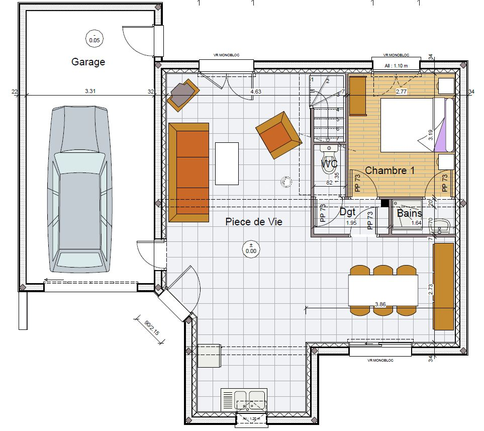 Maisons de 110000 130000 constructeur maison for Constructeur de maison individuelle cote d armor